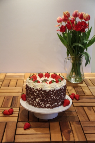 Strawberry Cream Gateau