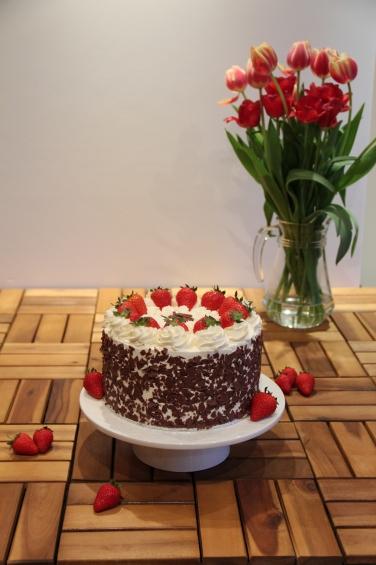 Strawberry Cream Gateau