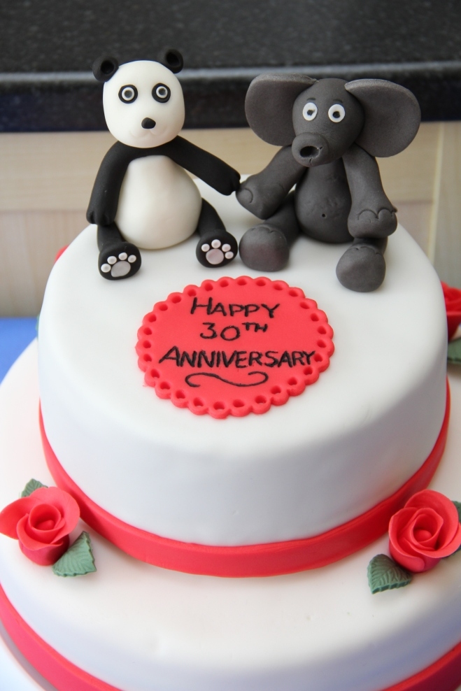 30th Wedding Anniversary Cake