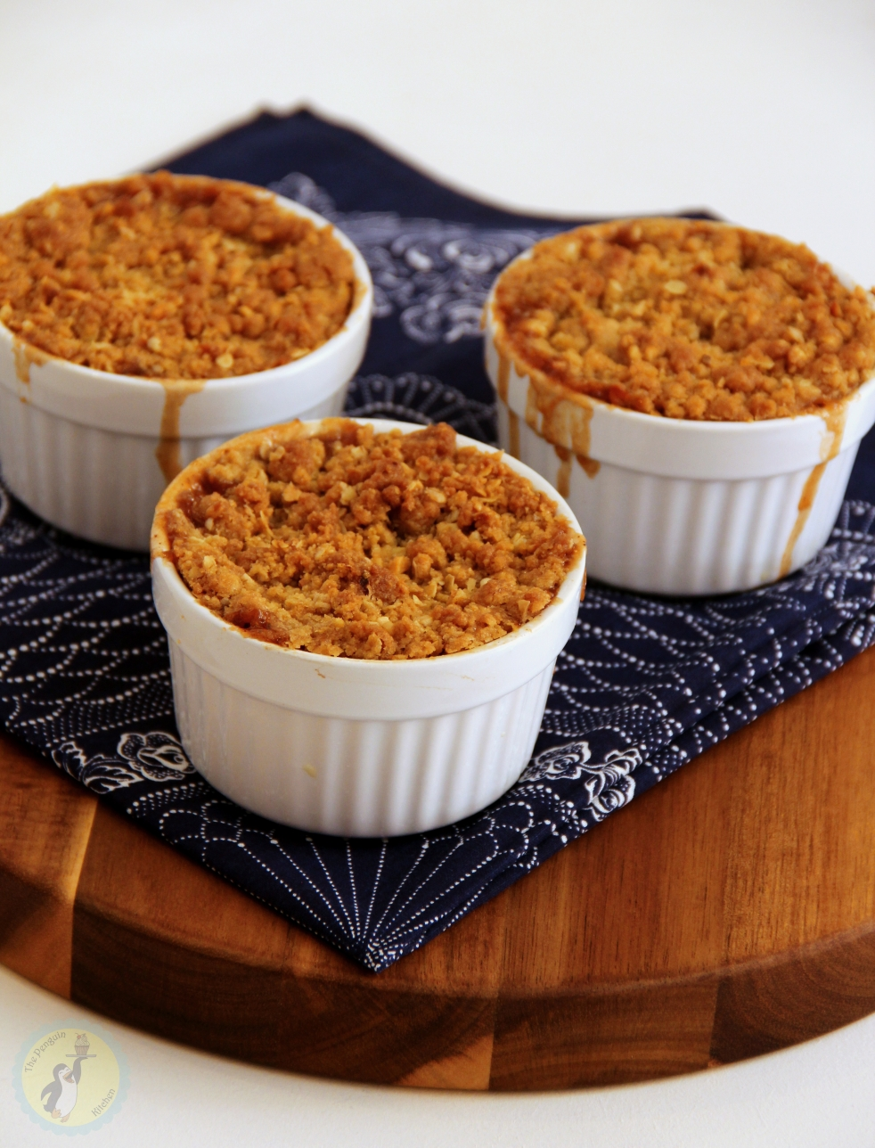 Toffee Apple Crumble - Juicy Apples with toffees under a crunchy oat and hazelnut crumble topping