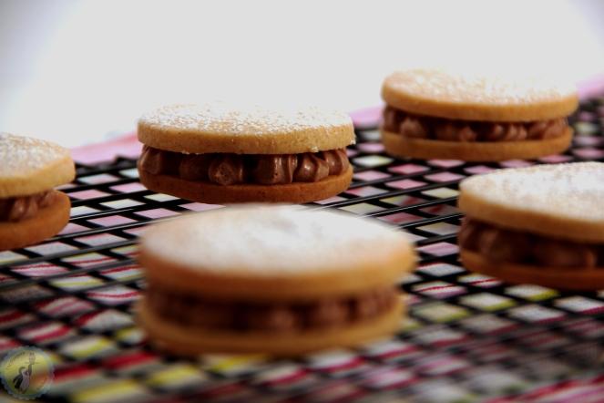 Vanilla and chocolate sandwich biscuits 01