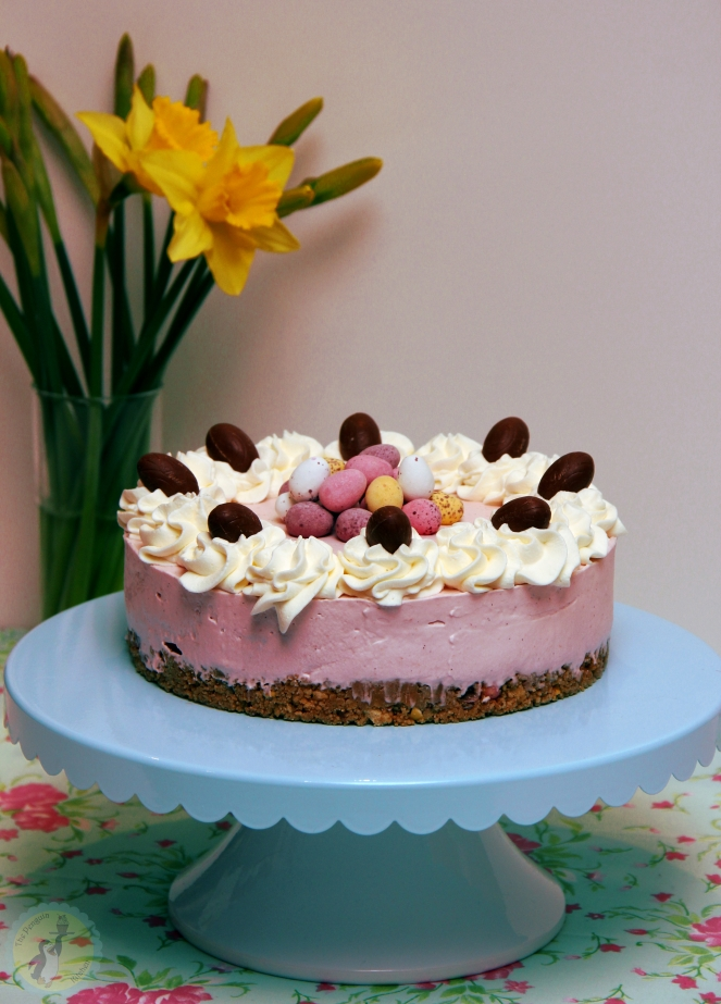 Raspberry Easter Cheesecake 03