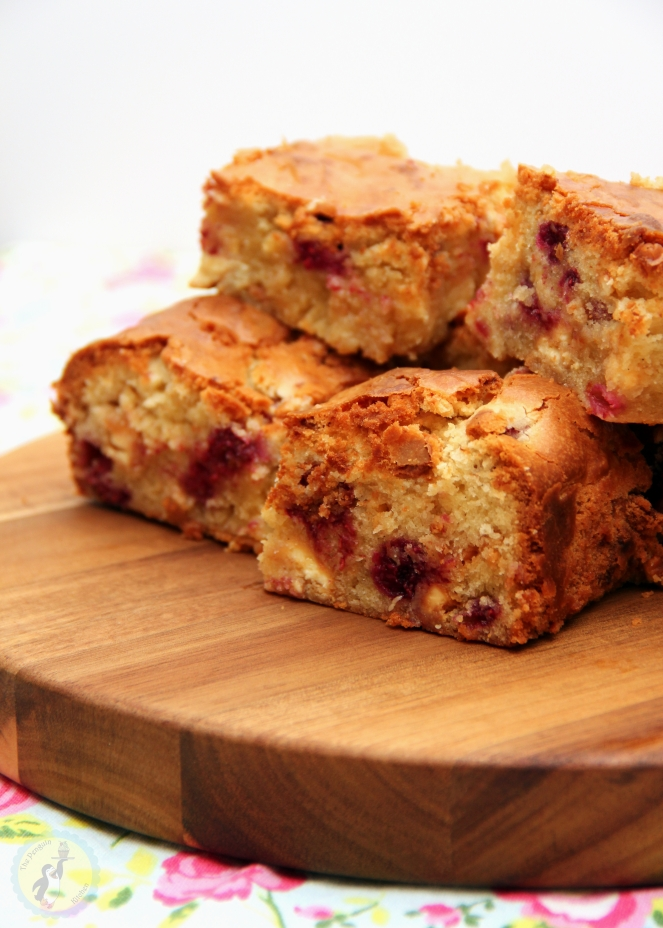 White Chocolate & Raspberry Blondies 02
