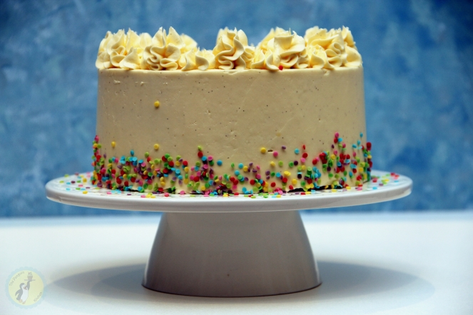 Vanilla Sprinkle Birthday Cake 01
